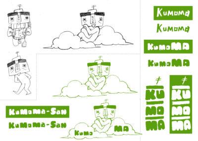 kumoma logo propre plus typo vert